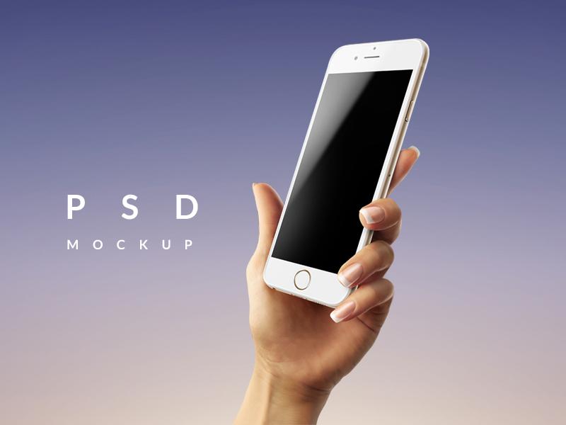 Premium Iphone 7 Amp 6 Samsung In Hand Psd Mockups